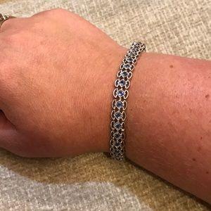 Jewelry - Silver bracelet with blue stones